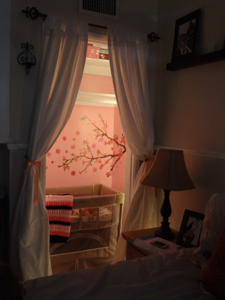 Closet made into a small nursery space for our little lady ? Pink ...