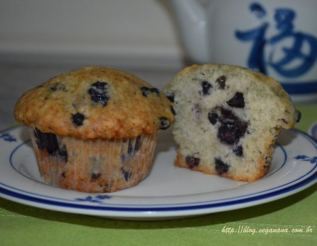Muffins com Mirtilos