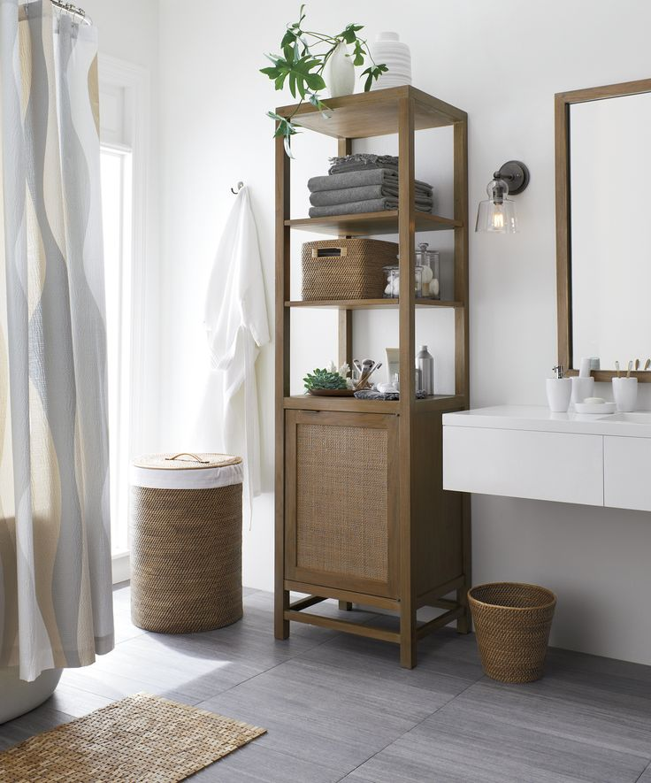 Best Bathroom Essentials Images On Pinterest Bathroom - Crate and barrel bathroom vanity for bathroom decor ideas