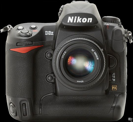 The Nikon D3X. The camera body alone is almost $8,000. Another for that lottery list...