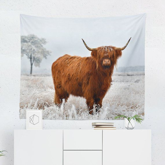 Cow Tapestry Highland Cow Tapestry Cow Wall Tapestry Highland Cow Wall Tapestry Cow Wall Hanging Cow Wall Decor Cow Art Large Tapestries Tapestry Decoration Psychedelic Tapestry