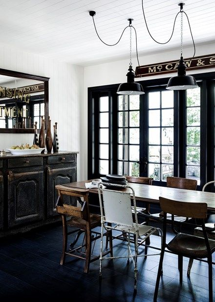 Modern vintage dining space - Home Beautiful