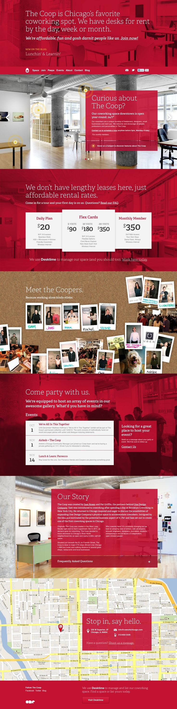 Coop - Chicago Coworking Space  http://coworkchicago.com/  #responsive #html5