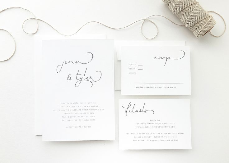 The Jennifer Collection offers a unique script font and modern primary font. Please note that the script font used is not available for guest addressing.