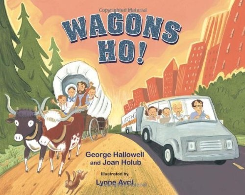 Follows a journey out West now and in a covered wagon. Makes great comparisons in a fun way!