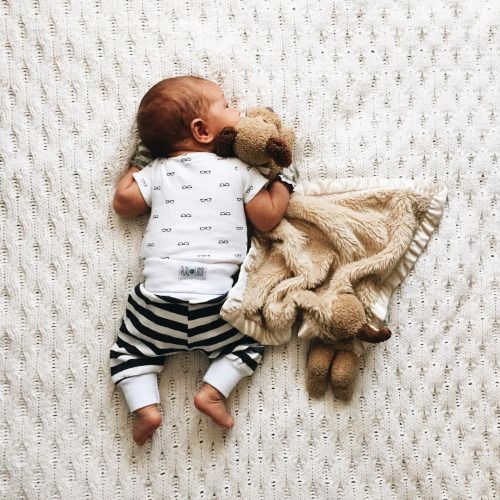 Sleeping with his toy | Shop. Rent. Consign. MotherhoodCloset.com Maternity Consignment