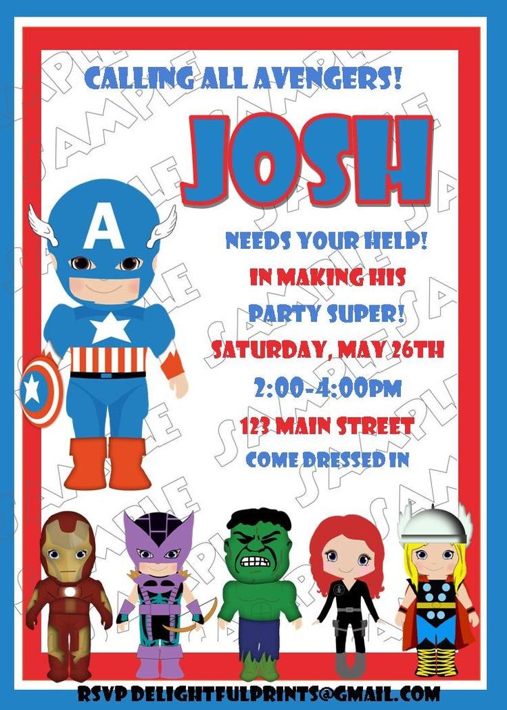 Avengers Birthday Invites: Avengers Parties, Bday Ideas, Birthday Parties, Birthday Invitations, Avengers Invitations, Avengers Birthday, 3Rd Birthday, Parties Ideas, Birthday Ideas