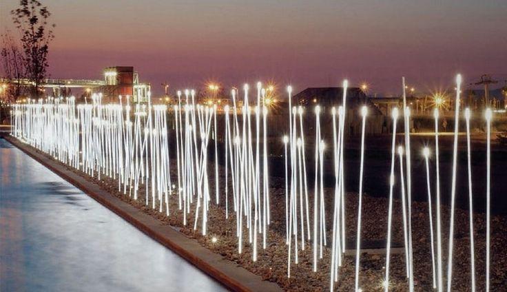 Typha LED Außenleuchten Stangen von iGuzzini
