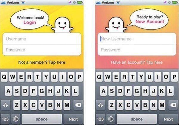 Crear cuenta en Snapchat