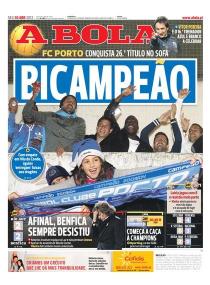 Os Campeões 2012 - Capas de Jornais