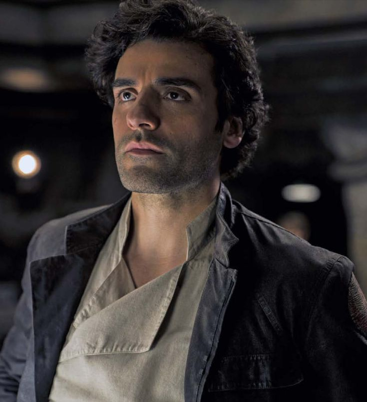 Oscar Isaac as Poe Dameron in the book of 'Star Wars: The Last Jedi' Collectors Edition (2017)