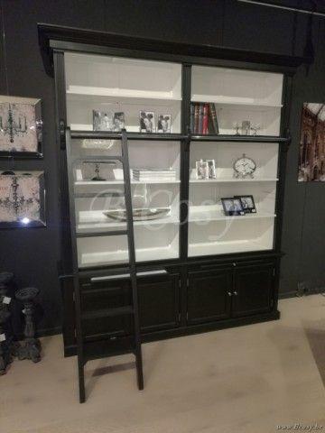 Meer dan 1000 idee n over zwarte boekenkast op pinterest boekenkasten doe het zelf - Woonkamer design bibliotheek ...