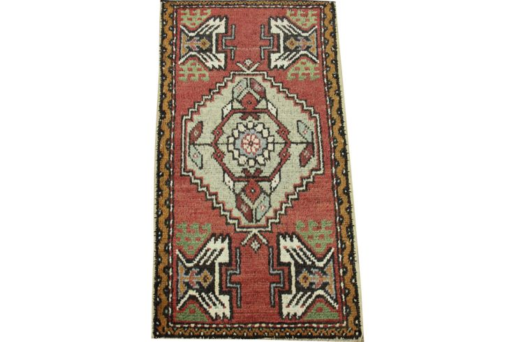 Doormats Turkish rugs handmade 3.1 x 1.7 Feet Traditional pattern bathmats Small size rugs Boho Rug Handwoven rug natural dye wool rug HY-27 by stripepattern on Etsy
