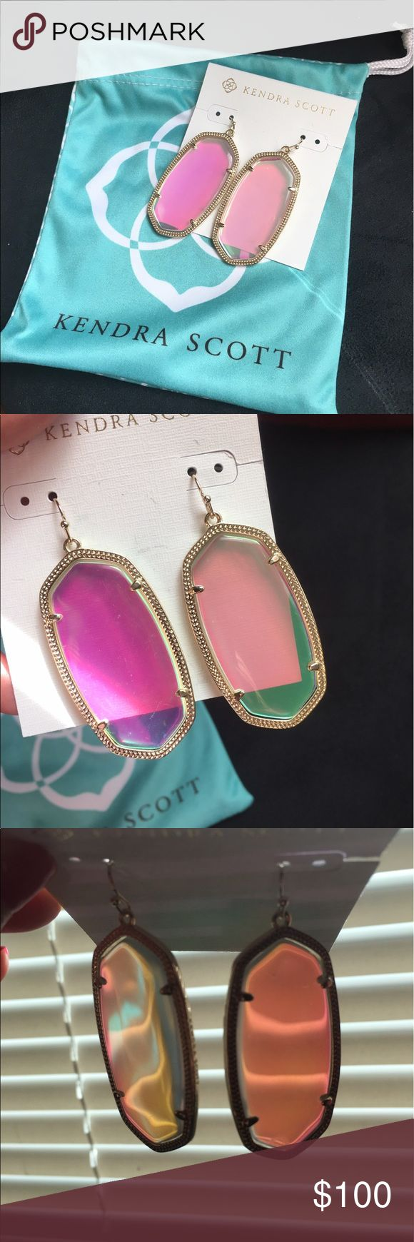 NWT Kendra Scott Danielle Earrings Iridescent Brand new and comes with pouch. Kendra Scott Jewelry Earrings