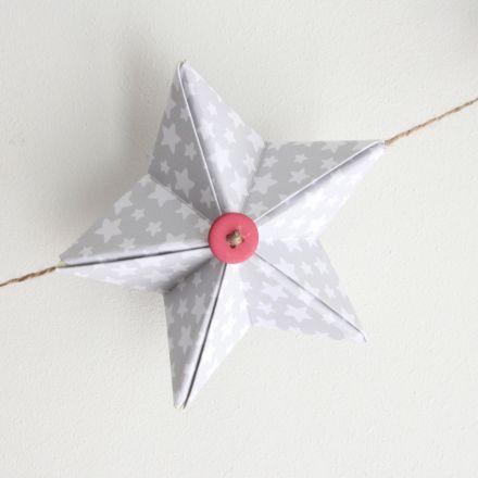 DIY guirnalda estrella