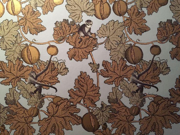 Carta da parati, Fornasetti - Monkey pattern