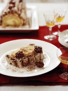 Australian Gourmet Traveller French Christmas recipe for chocolate and Grand Marnier bûche de Noël by Bruno Loubet from Baguette restaurant in Brisbane.