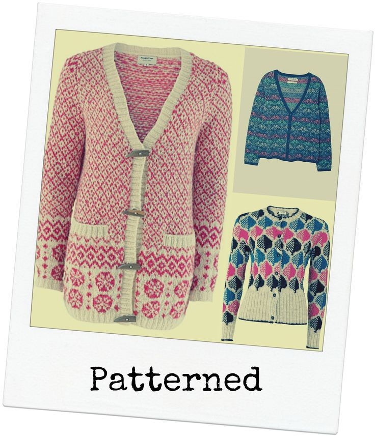 Patterned cardigans for autumn #ethicallymade