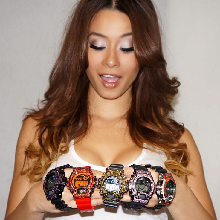 Limited Edition Red And Orange Custom G Shock Watch