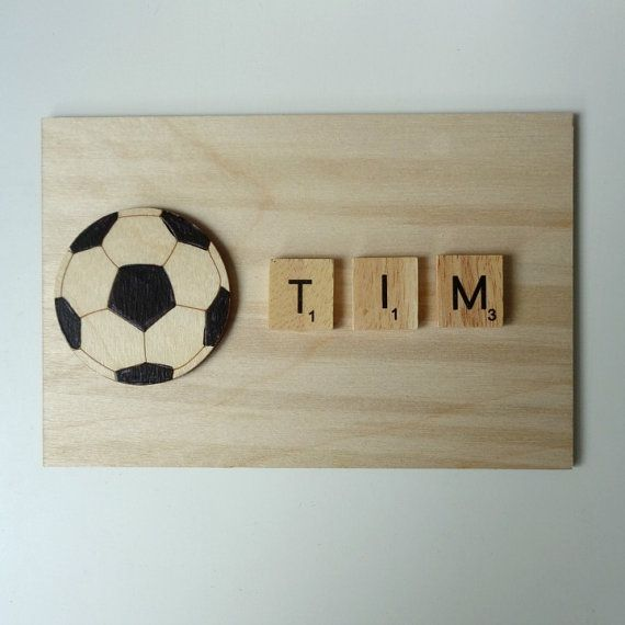Personalised Football plaque sport lover kids sports name