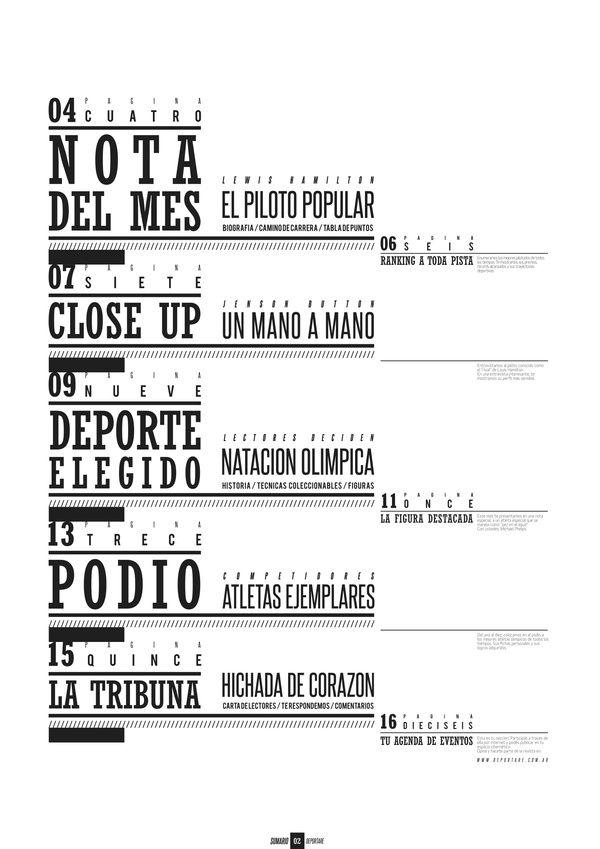 Sports Magazine / Revista Deportiva by Caro Ramos, via Behance