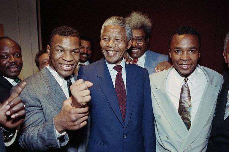 Big Mike and Sugar Ray with Madiba