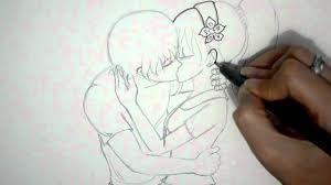 Resultado de imagen para imagenes de chico abrazados para dibujar un dibujo sin besarse