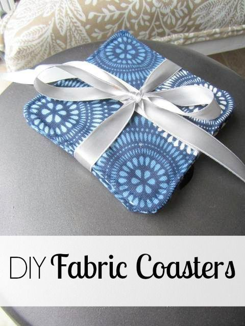 DIY fabric coasters you can sew yourself. Use fabric that matches your home decor or sew these as a gift for a friend or relative.
