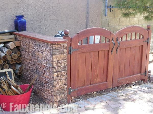 beautiful outdoor living spaceshides trash cans - Outdoor Trash Cans