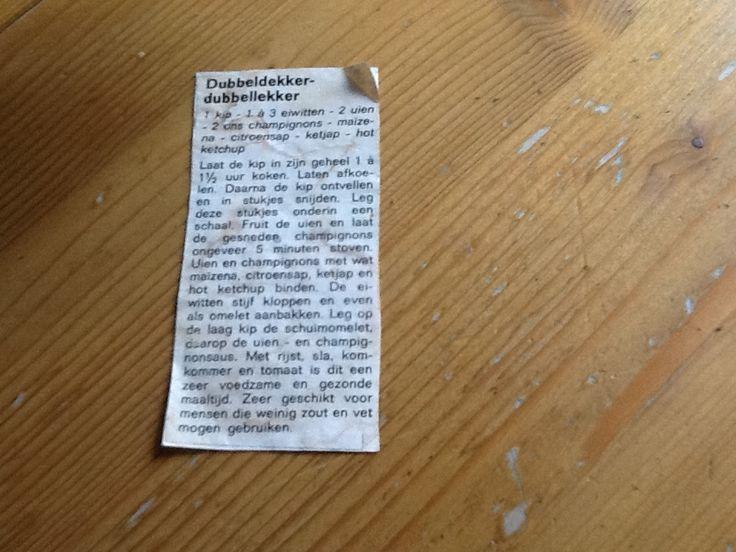 Binnen 10 minuten nadat Marijke de oproep deed in Gelderland helpt op Radio Gelderland, kregen wij een foto van Hannie Zwaanswijk met het recept. 'Dit is echt te gek, dit had ik nooit verwacht', liet een blije Marijke weten. Voor de mensen die...