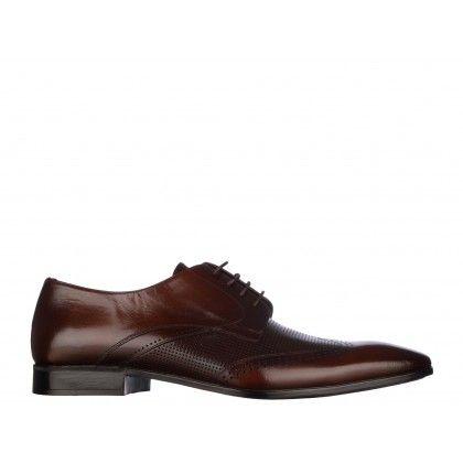 Pantofi Mario Ferretti coniac, din piele naturala