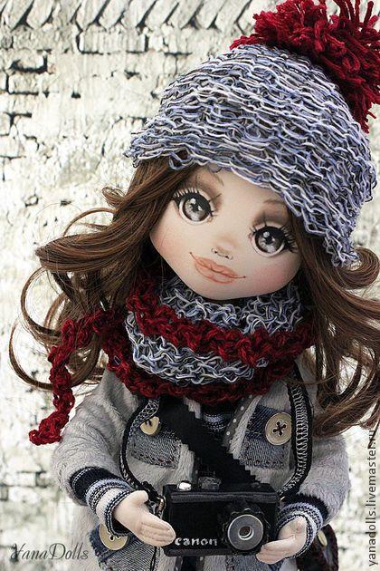 Светлана - серый,кукла,фотограф,кукла ручной работы,кукла интерьерная