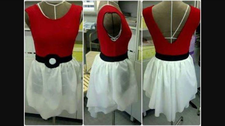 Pokemon costume inspiration for girl's Pokemon party. Pokeball