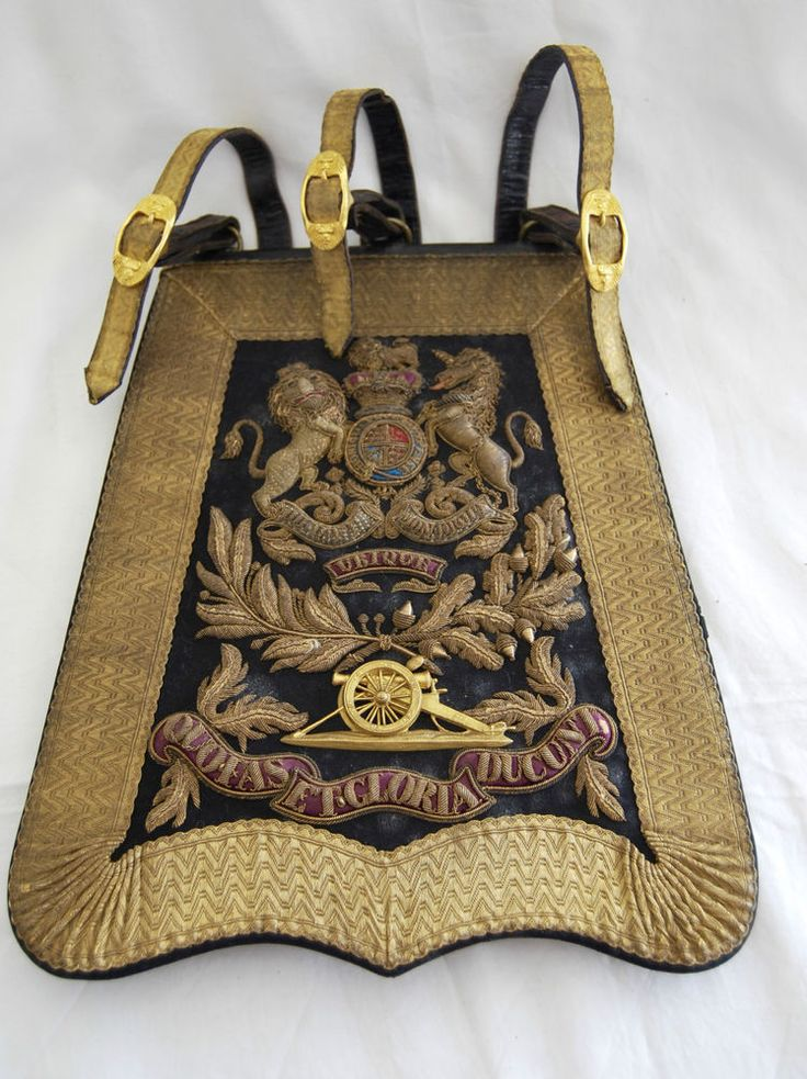 Royal Artillery Officers Full Dress Sabretache with Slings 1837-1872 pattern