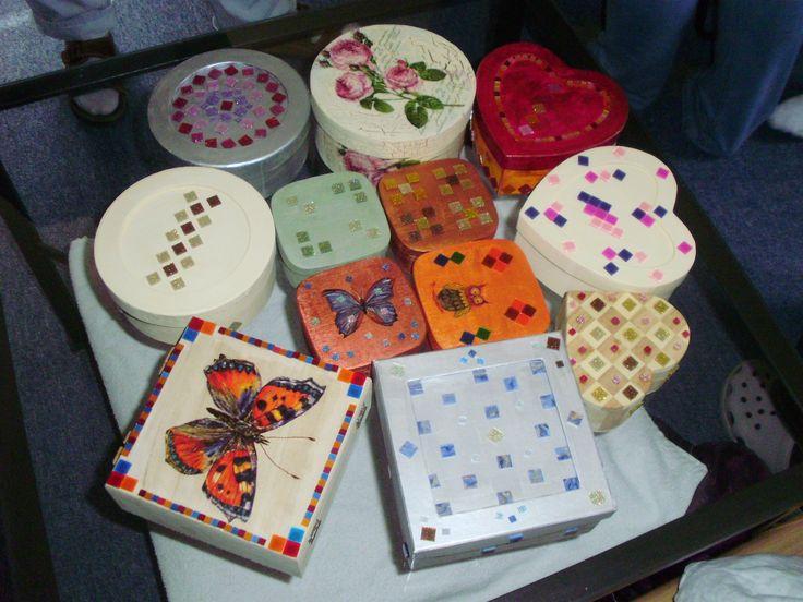 mozaikové krabičky