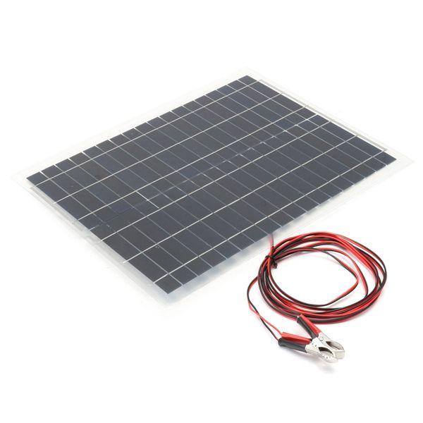 20w 12v Panel Solar Flexible Para Cargar La Bateria Del Barco Rv Camping Flexible Solar Panels Solar Panels Solar