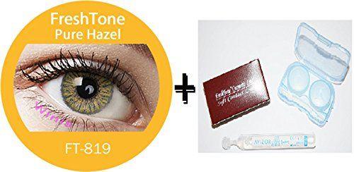 Lentilles De Contact De Couleur Pure Hazel 3Tons + Avizor Solution Multifonctions Pour Lentilles 10ML + Kit De Rangement Couleur Aléatoire…