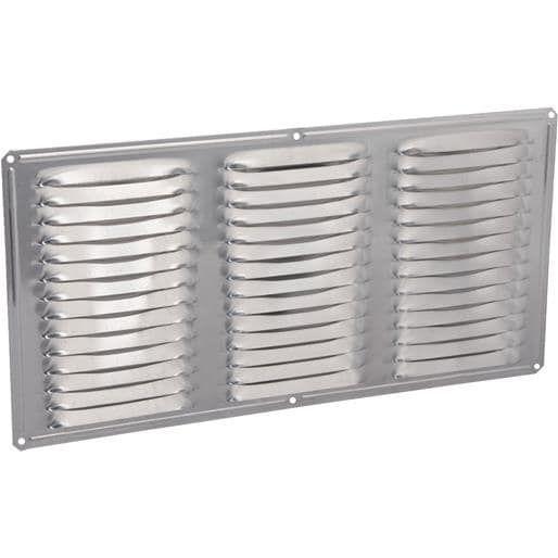 Air Vent Inc. 16X8 Mil Under Eave Vent 84210 Unit: Each Contains 24 per case, Silver aluminum
