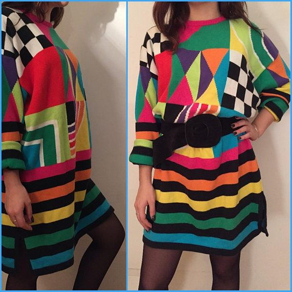 Vintage rainbow knitwear Carlo Colucci designer pullover winter vintage Christmas jumper oversized knitwear 80s retro funky vintage pullover      Clothing rainbow knitwear oversized knitwear colorful knitwear 80s retro knitwear Designer knitwear Carlo Colucci designer pullover funky vintage vintage pullover Christmas jumper retro funky retro colorful vintage winterwear This vibrant vintage rainbow knitwear is a quirky addition to your winter closet  Label: Atenzione by Carlo Colucci