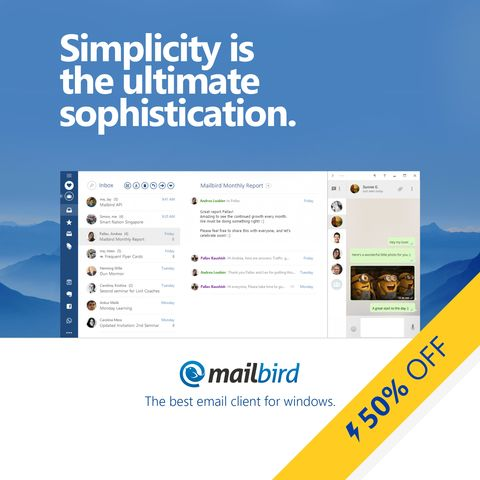 Our End of May sale is live! Grab your copy of Mailbird Pro before it's too late ->