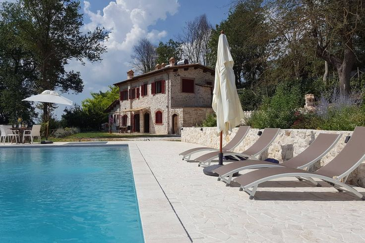 £246 per night (ITALY)  Villa in Stimigliano, Italy. The villa is in the Sabina Hills close to Rome. It's a lovely family place for maximum 10 people. We love to make pizza's for lunch in the oven on the terrace. Go for a swim. Relax at the pool. Enjoy the views al around. Eat in one of the nice res...