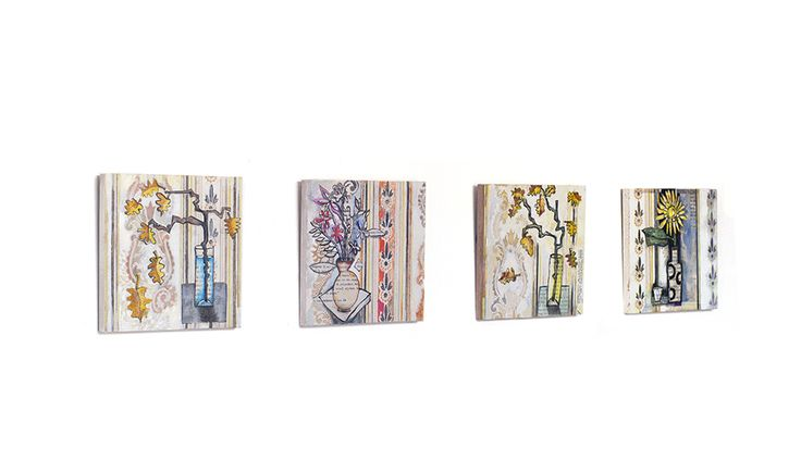 square paintings 15x15 cm