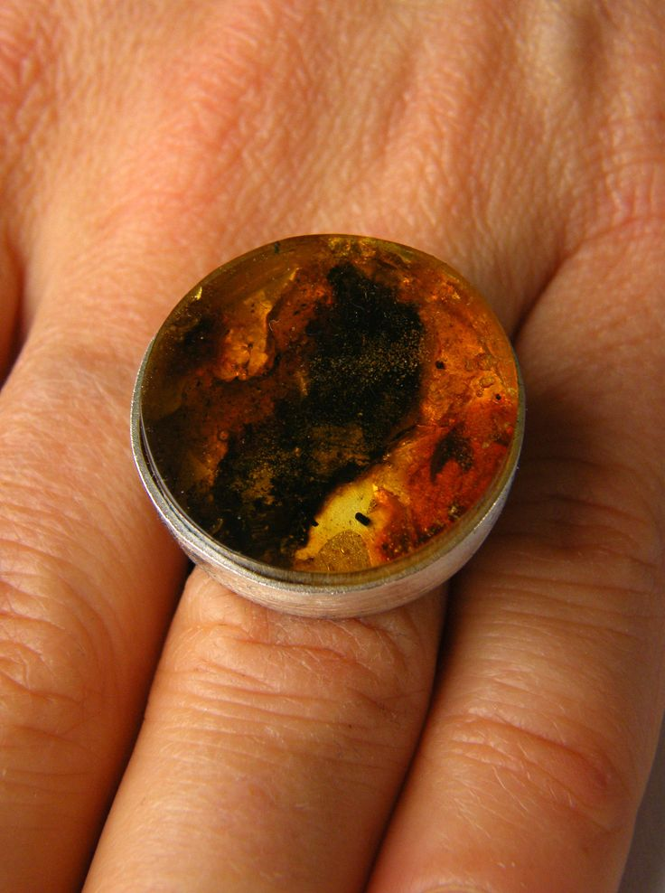 Amber Ring, genuine Amber, Orange, yellow, Sterling Silver 925, Bernsteinring, giftbox for she, giftbox, handmade, unique, Ambre NEW by JewellerWithSoul on Etsy