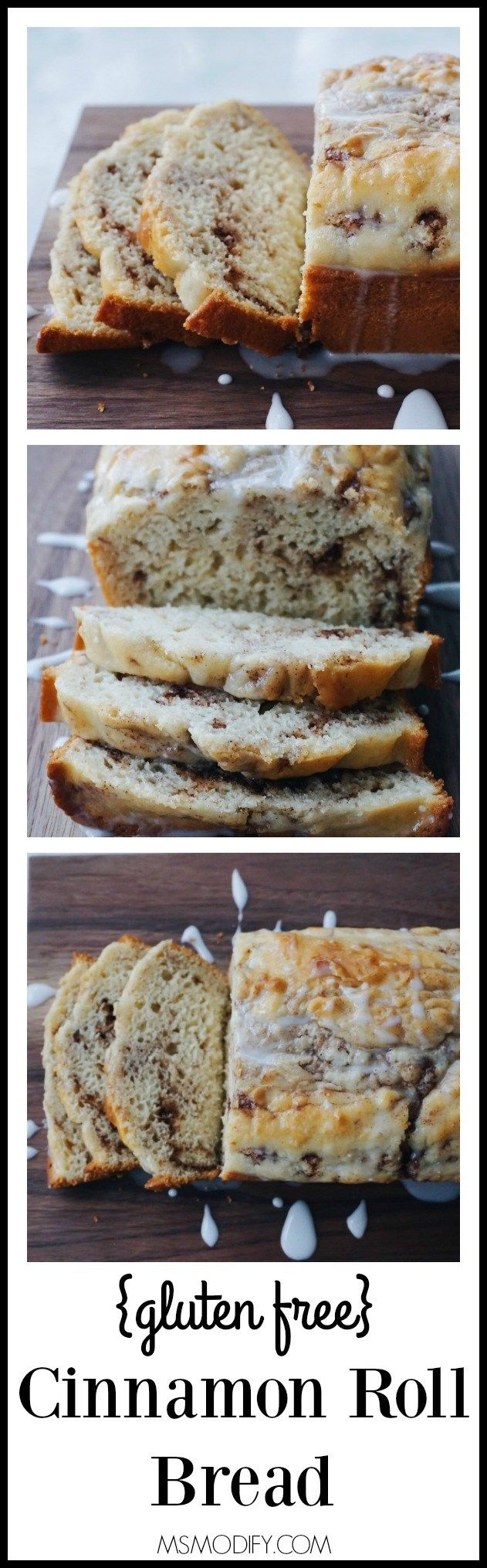 Easy and quick gluten free cinnamon roll bread with no yeast required! If you're gluten free, you no longer need to miss out on flavor with this gluten free cinnamon roll bread!