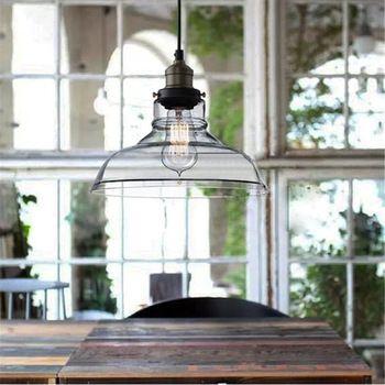 Wholesale-prijs van hoge kwaliteit vintage industriële 28cm plafond glazen lampenkap hanglamp cafe restaurant keuken