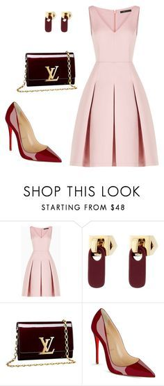 """""""style theory by Helia"""" by heliaamado on Polyvore featuring moda, BCBGMAXAZRIA, Marc by Marc Jacobs, Louis Vuitton e Christian Louboutin"""