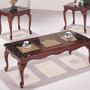 Queen Anne Coffee Table Glass Top