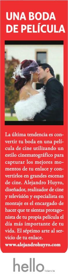 Alejandro Huyro en la revista Hello Valencia