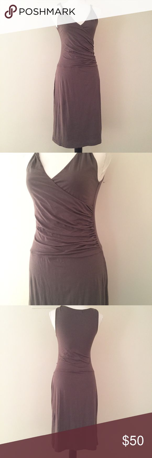 Velvet by Graham & Spencer cotton knit dress M Velvet by Graham & Spencer cotton knit dress. Gorgeous deep taupe in the softest & stretchiest of cotton.  Double thickness lined.  This dress can go anywhere dresses up with heels or casual with a denim jacket. Velvet Dresses