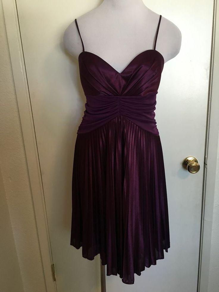 Womens Juniors Alyn Paige Purple Formal Dress Large